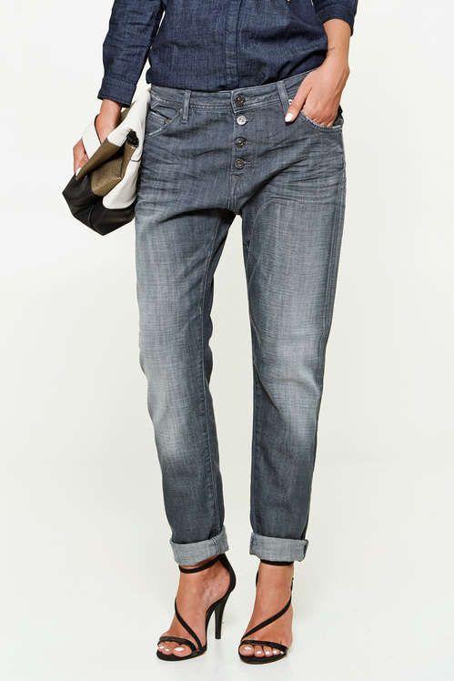 42f8ce5d7ac99 Jeans Replay Pilar Boyfriend Gris Delave Femme   Mode   Replay jeans ...