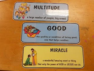 Word Wall For Jesus Feeds Loaves And Fishes