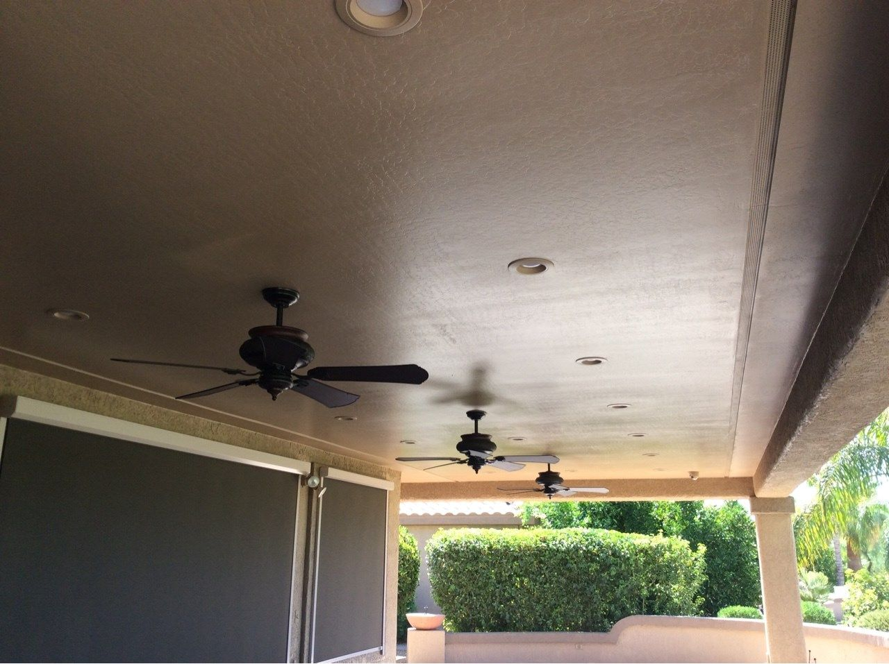 Recessed Lighting And Ceiling Fans On An Expansive Patio Extension That And More By Twd Www Twdaz Com Twd Ceiling Fan Types Of Houses Home Decor