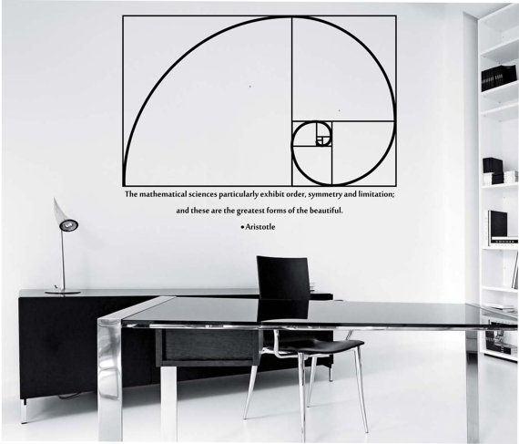 Furniture Design Ratios golden ratio wall decal design mural interior design math science
