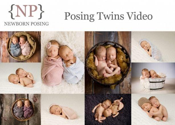 Posing newborn twins