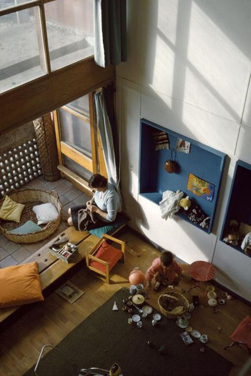 Interiors   Maisons Jaoul in Neuilly   Le Corbusier   1954 LE