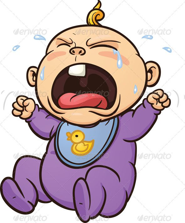 Cartoon Characters Crying : Crying baby clip art template and creative