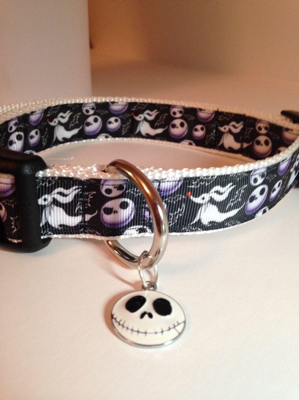 Jack Skellington Nightmare Before Christmas Adjustable Dog Collar ...