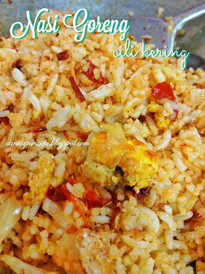 Nasi Goreng Cili Kering Makanan Resep Makanan Nasi Goreng