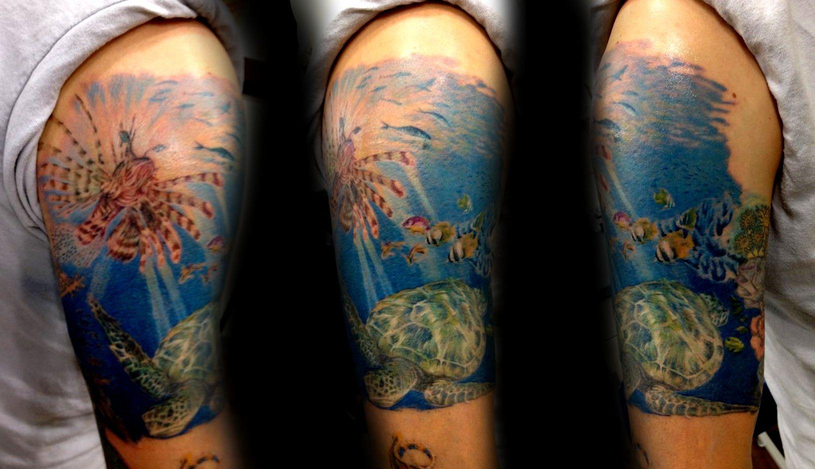 Underwater Ocean Tattoos 612802 68fc8a74ef280c7e52308b0a3a0bfd19