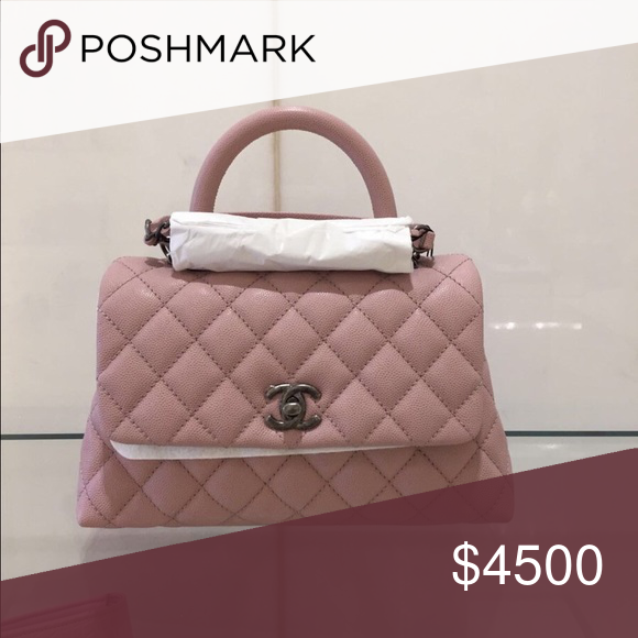 c151acf0fbae Chanel 17C Pink Coco Handle Medium Gorgeous baby pink color & very  rare. Medium