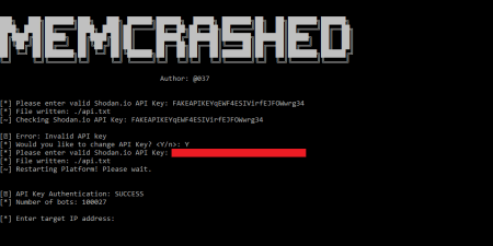 Memcrashed - DDoS attack tool for sending forged UDP packets to
