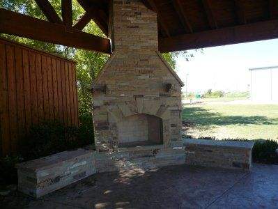 Flagstone Fireplaces U0026 Outdoor Grills Plano, Texas   American Outdoor Patio  Covers. Serving The