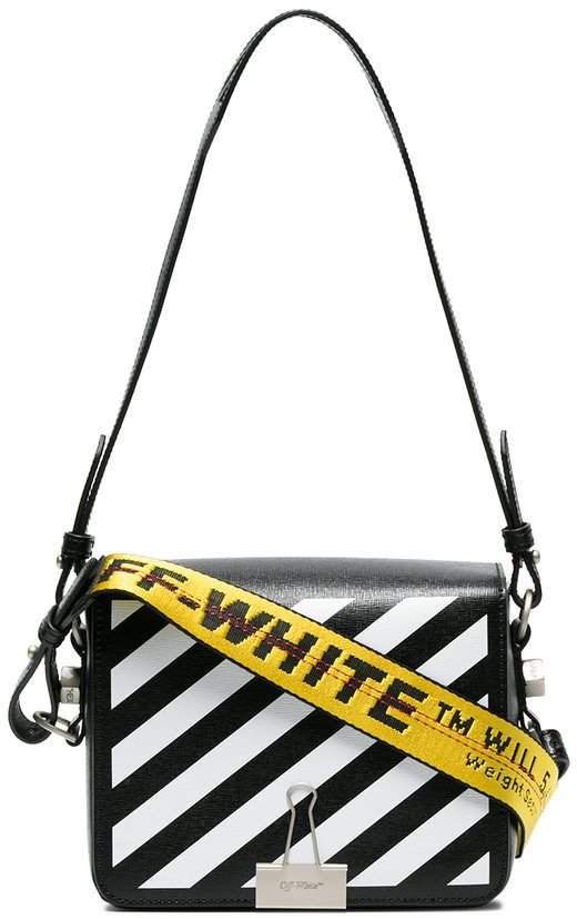 c74ff1aba52cab Off-White Black Diagonal Binder Clip Shoulder Bag | Products ...