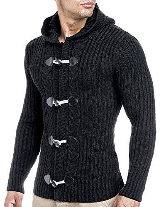 leif nelson strickjacke mit kapuze bel25 schwarz xxl sweaters pinterest strickjacke. Black Bedroom Furniture Sets. Home Design Ideas