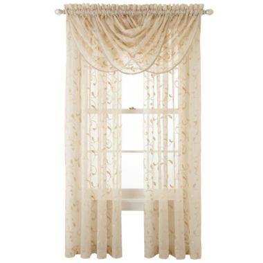 Royal Velvet® Harmon Sheer Window Treatments  found at @JCPenney