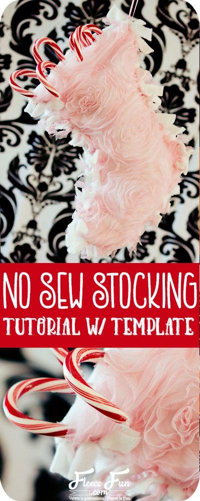 No Sew Christmas Stocking Patterns   Stockings, Tutorials and Holidays