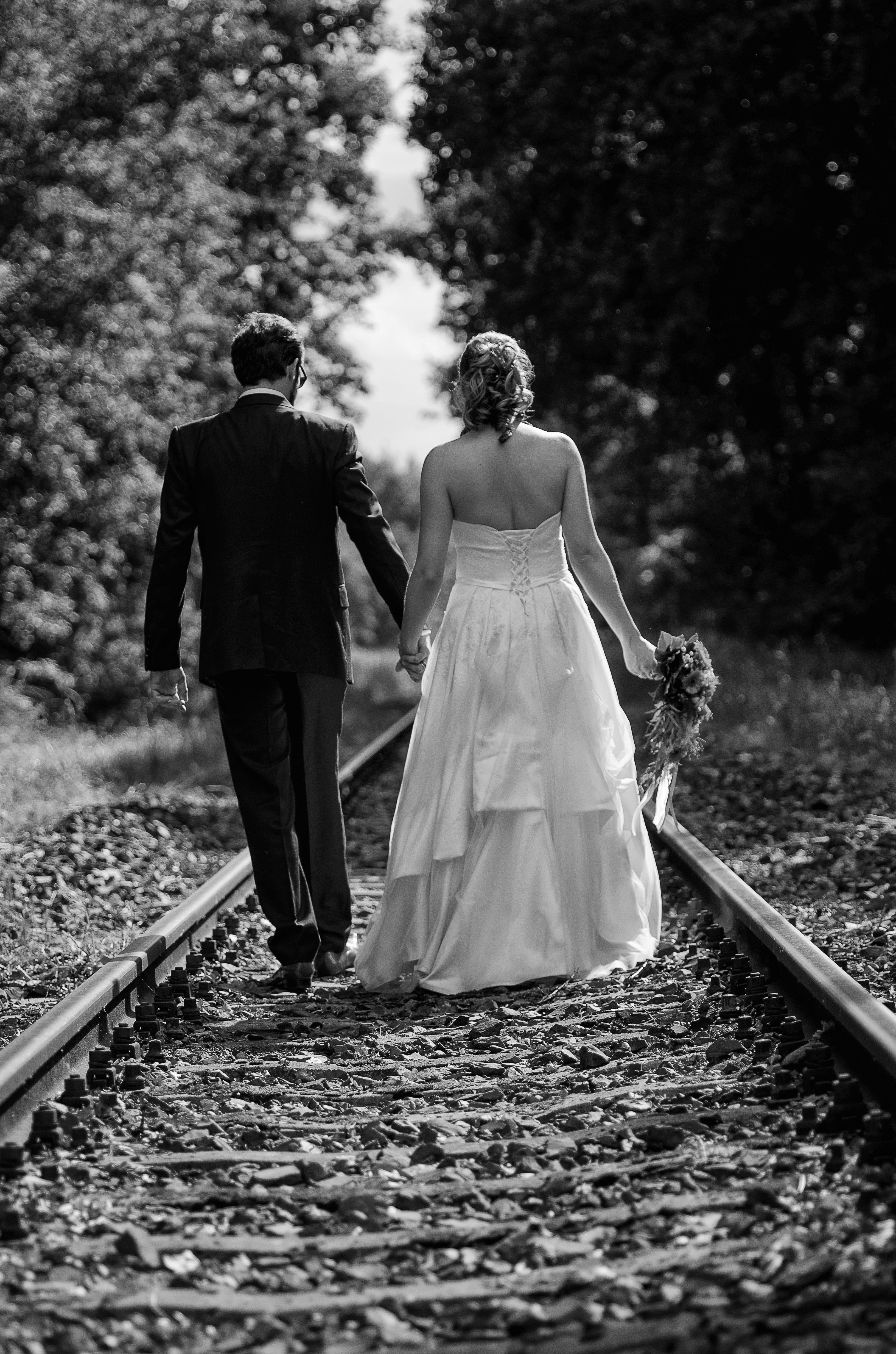 Wedding Photography - Black and white / Schwarz weiss - Hochzeitsfotografie - Couple, bride