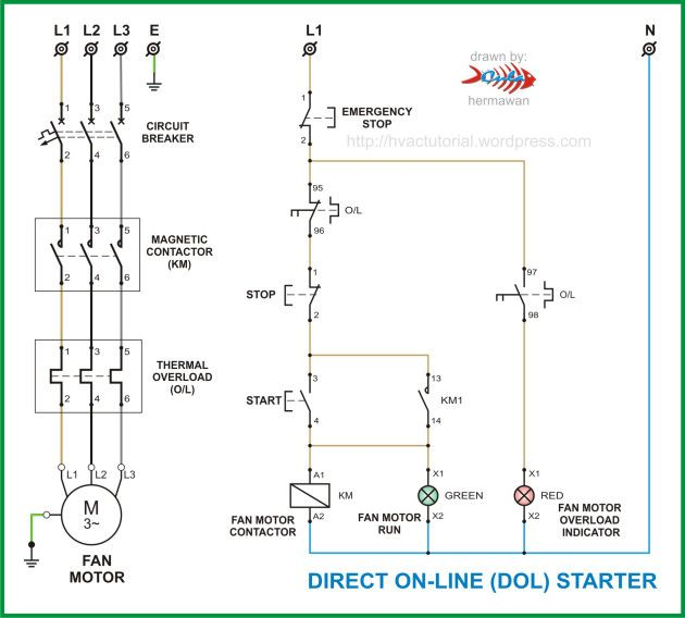 Magnetic Contactor Wiring Diagram Single Phase