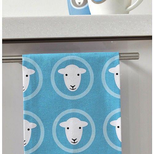 Herdy sheep teatowel