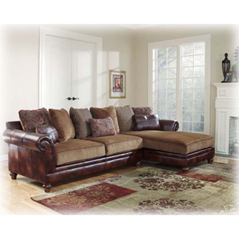 Ashley Microfiber And Bonded Leather Sectional City Liquidators In Portland Living Room Sectional Furniture Cottage Style Furniture