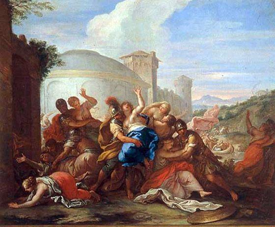 Das Bambini ~ NiccolÒ bambini venice 1651 1736 . the rape of sabine women