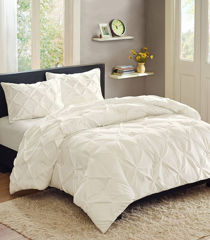 Home Bed Comforters Pintuck Bedding Comforter Sets