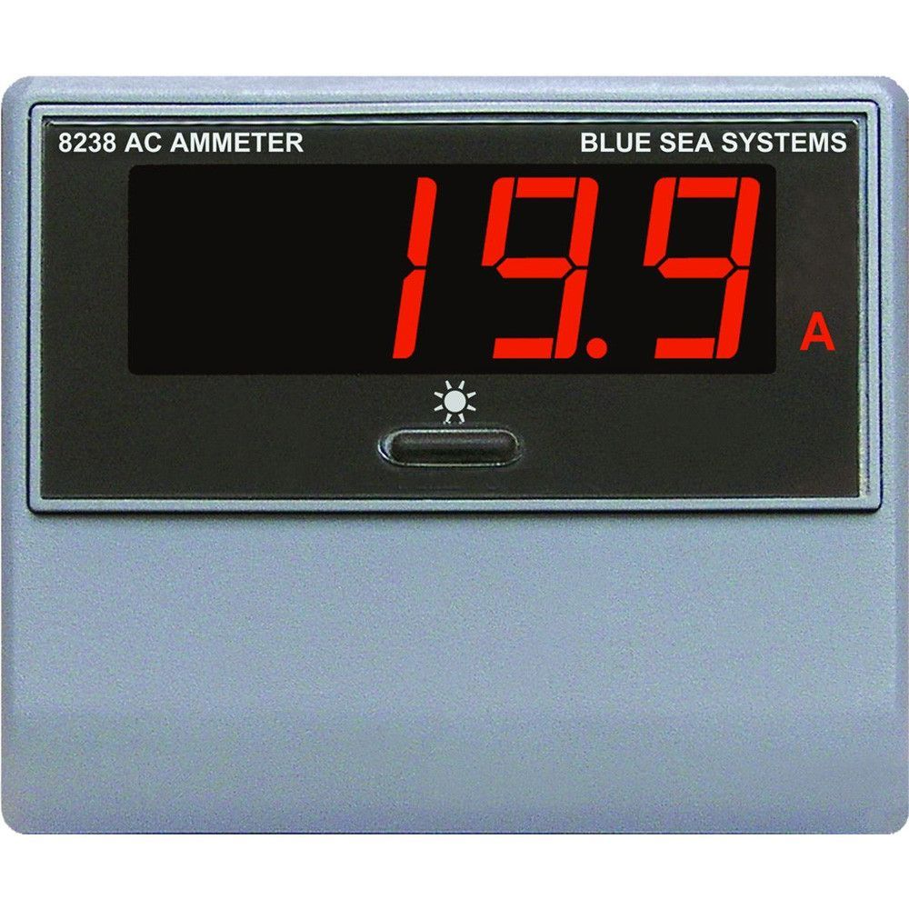 Blue Sea 8238 Ac Digital Ammeter Current Transformer And Products Selector Switch Connection To Transformers Ammeterdisplays Amperage From 0 150 Amps 3 Levels Of Display Brightness Splashproof Front Includes Manual Sleep Mode