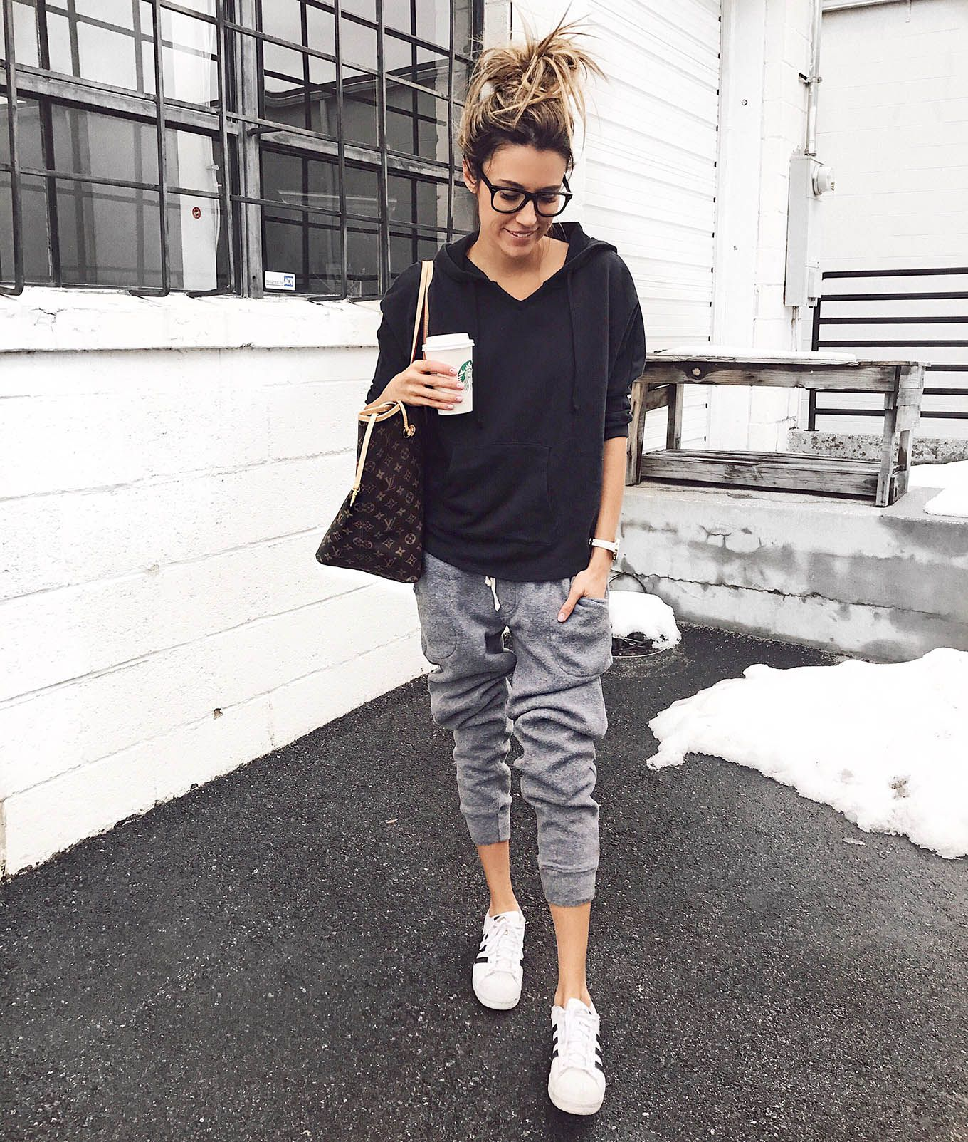 Insta Round Up And President S Day Sales Hello Fashion Black Hoodie Grey Jogger Pants White Sn Pants Outfit Casual Sporty Outfits Jogger Pants Outfit Casual