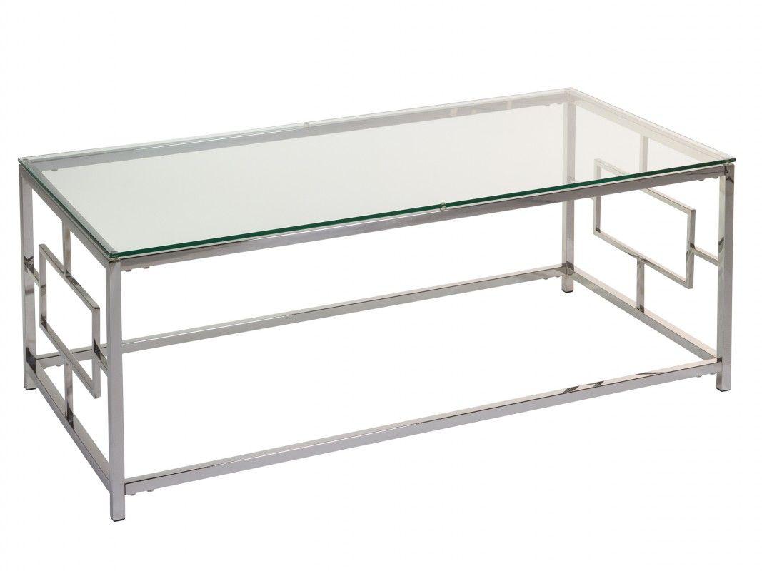 Mesa De Centro Para Salon En Acero Y Cristal Centros De Mesa Mesas Madera