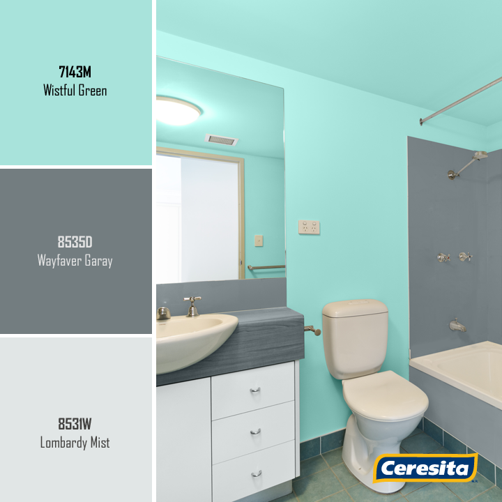 #CeresitaCL #PinturasCeresita #color #baño #pintura #decoración