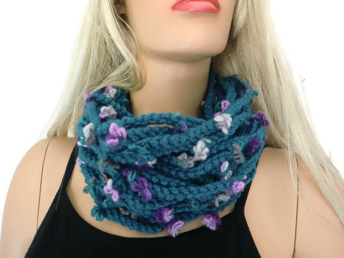 Teal Green Best Friends scarf