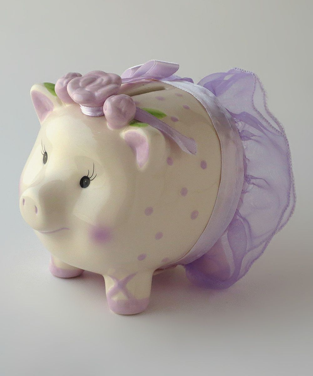 Mud pie ballerina piggy bank mud pie - Azzure Home Purple Ballerina Piggy Bank