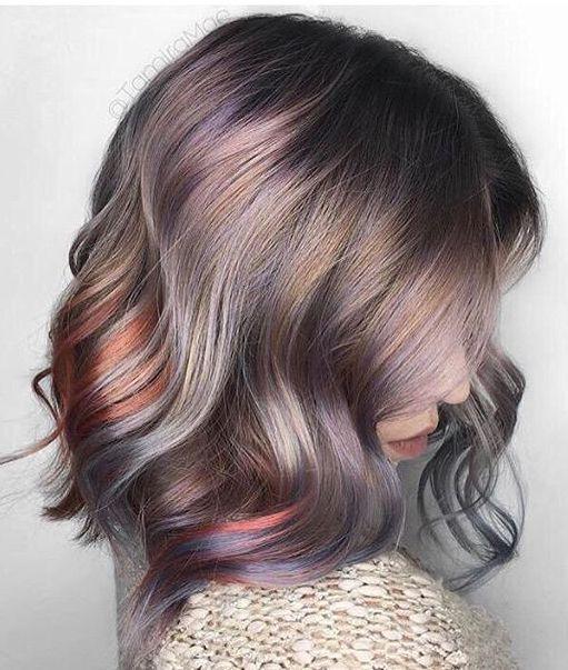 Pinterest: DEBORAHPRAHA  Interesting hair color ...