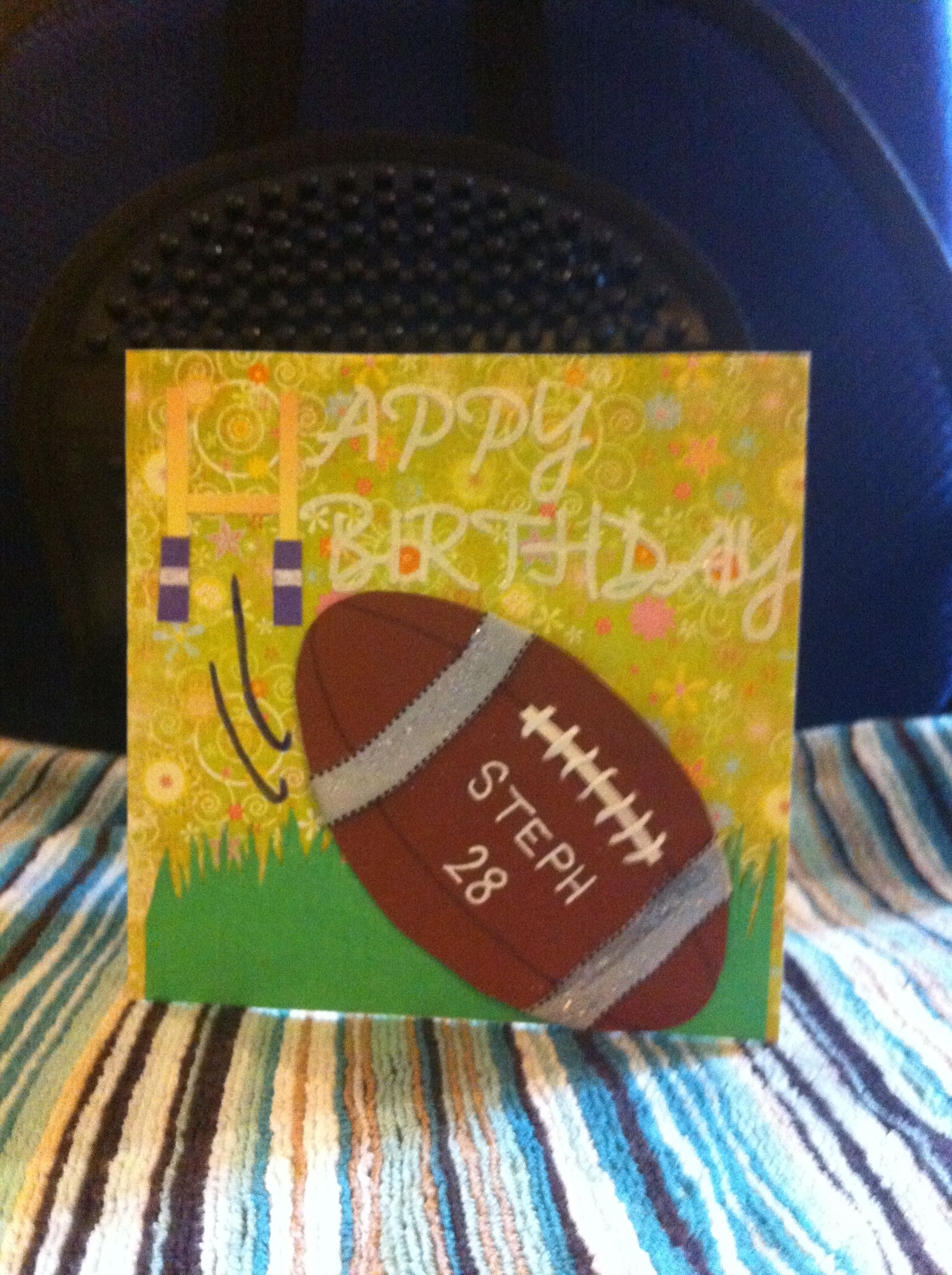 Handmade Birthday Card For A Female Rugby Player Birthday Cards For Men Handmade Birthday Cards Birthday Cards