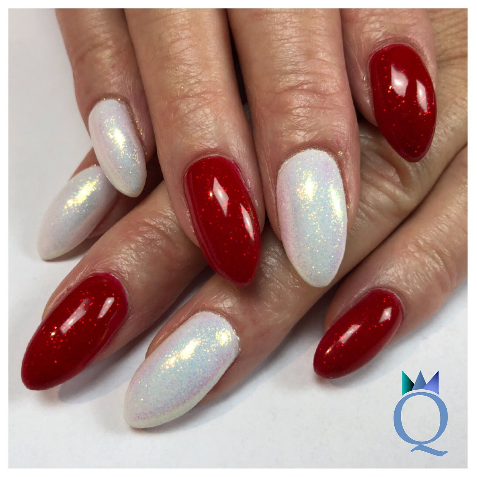 almondnails gelnails nails white red glitter mandelform geln gel n gel rot weiss. Black Bedroom Furniture Sets. Home Design Ideas