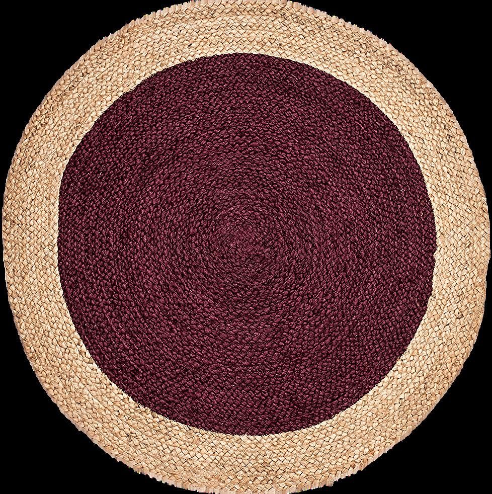Tapis Rond En Jute Rouge Sumac Naia O90 Cm Tapis Ronds In 2020 With Images Jute Rugs Deco