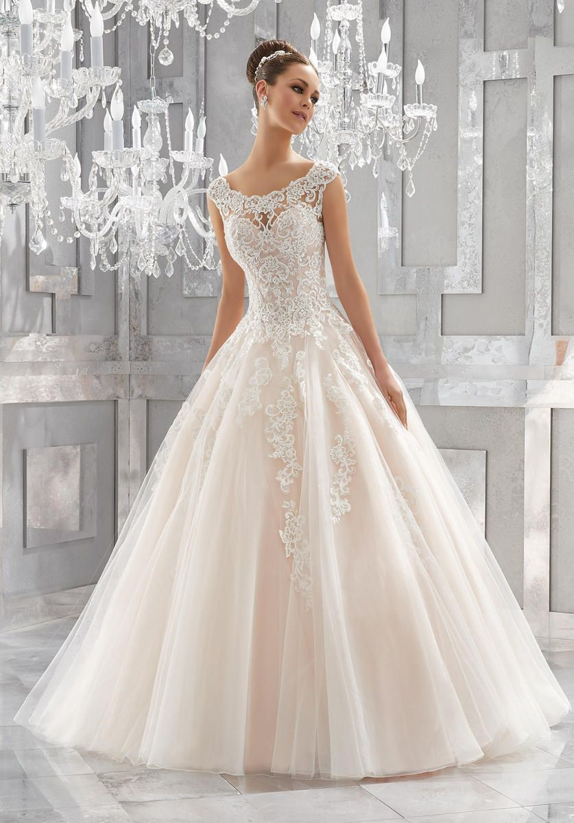 Blu Bridal #5573 Style name: Massima, Crystal Beaded, Embroidered ...