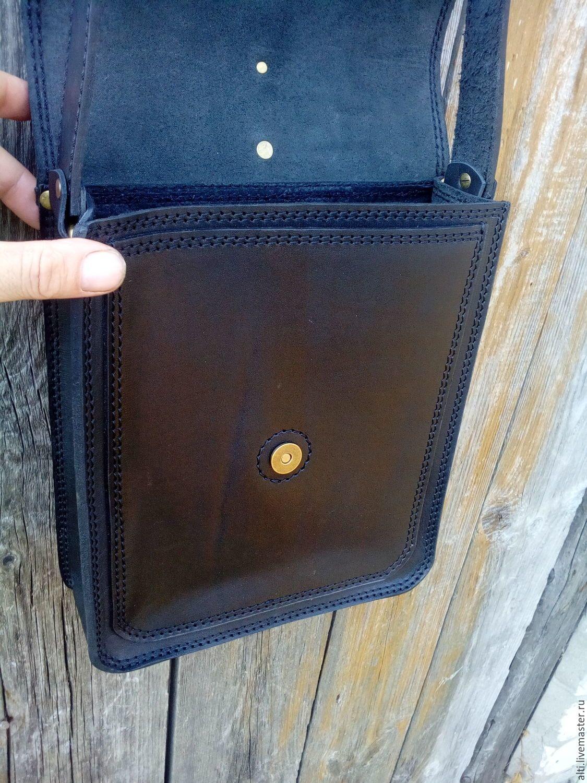 3e8225d85e22 Мужские сумки ручной работы. Сумка-планшет из натуральной кожи № 11.  Александр (ALTI). Ярмарка Мастеров. Сумка-планшет