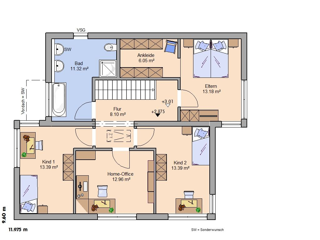 H user architektenhaus futura zukunft gestalten for Architektur einfamilienhaus grundrisse