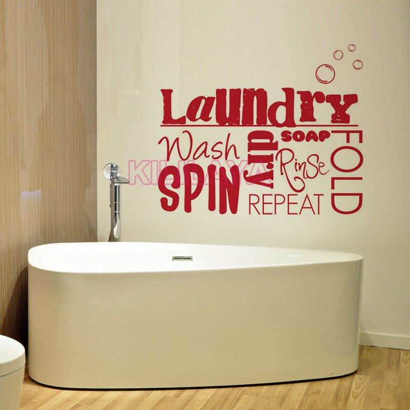 Aliexpress.com  Buy DIY Vinyl Wall Stickers Laundry Room Mural Wall Decals Sticker Removable & Aliexpress.com : Buy DIY Vinyl Wall Stickers Laundry Room Mural Wall ...