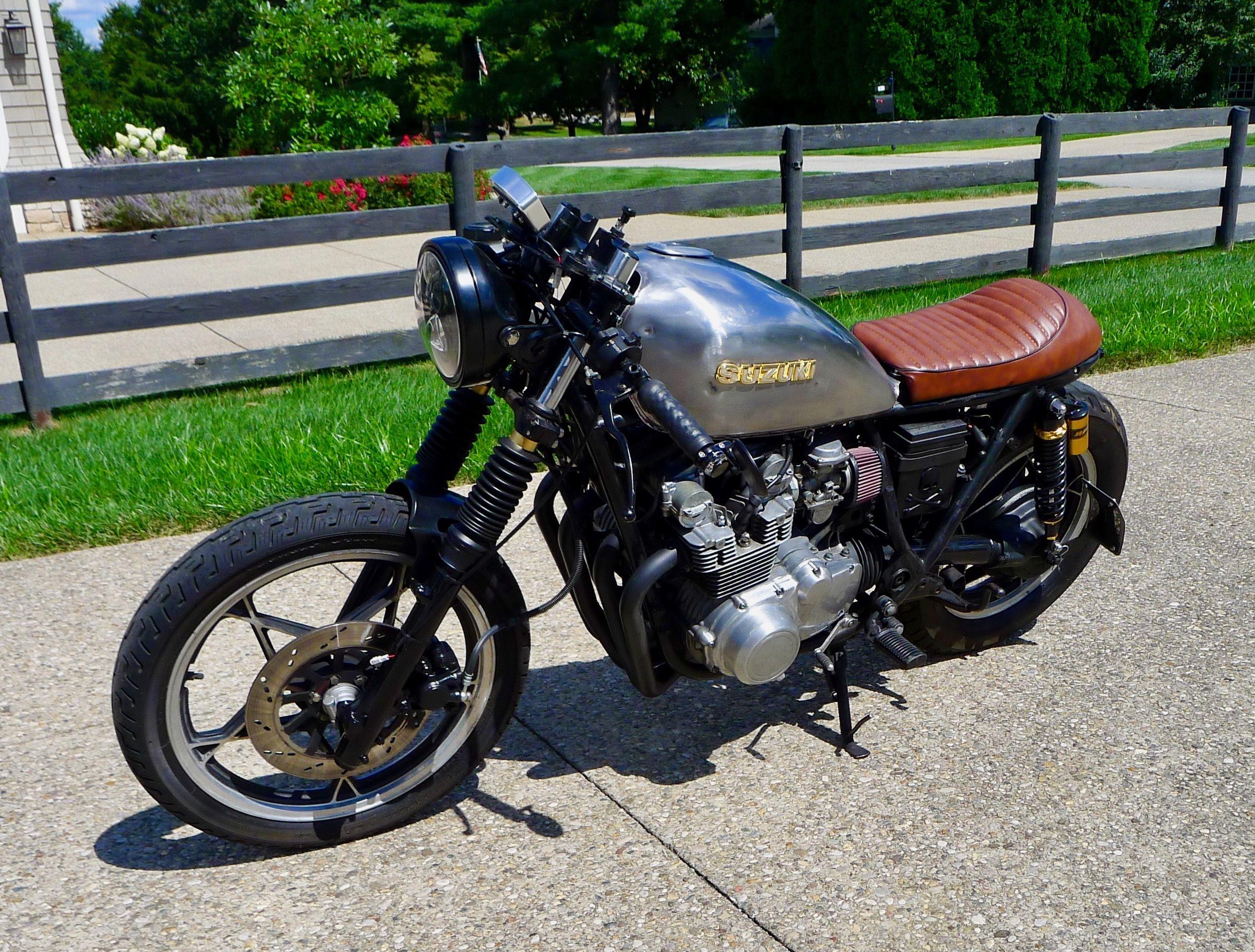 1981 Suzuki Gs450 Cafe Racer Custom Cafe Racer Motorcycles For Sale Cafe Racer Headlight Cafe Racer Custom Cafe Racer