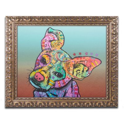 "Trademark Art 'Rigby Custom 3' by Dean Russo Ornate Framed Graphic Art Size: 11"" H x 14"" W x 0.5"" D"