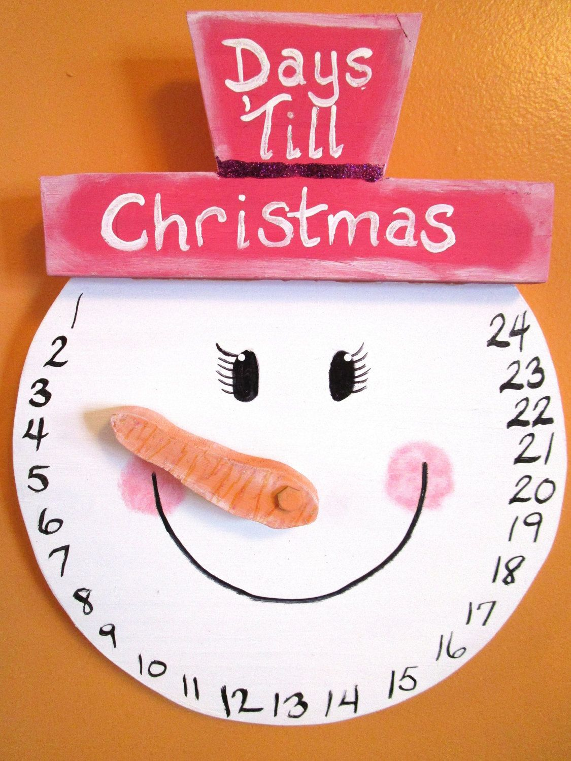 Countdown To Christmas Craft Ideas Part - 40: Fun Item For The Kiddos. Snowman COUNTDOWN To Christmas Wall Hanging / By