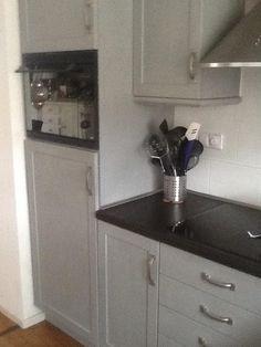 Keukens verven annie sloan verf moadbord pinterest annie sloan annie and chalk paint - Verf keuken lichtgrijs ...