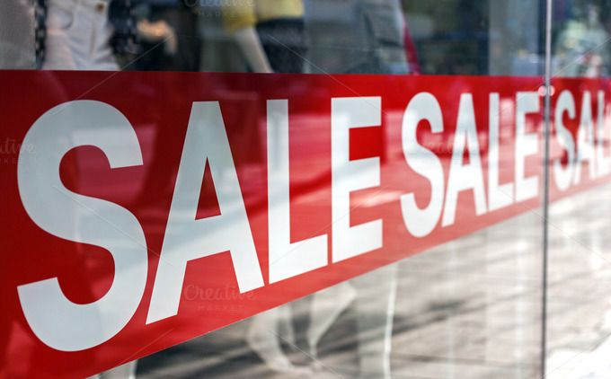 Sale display by Cebas on @creativemarket