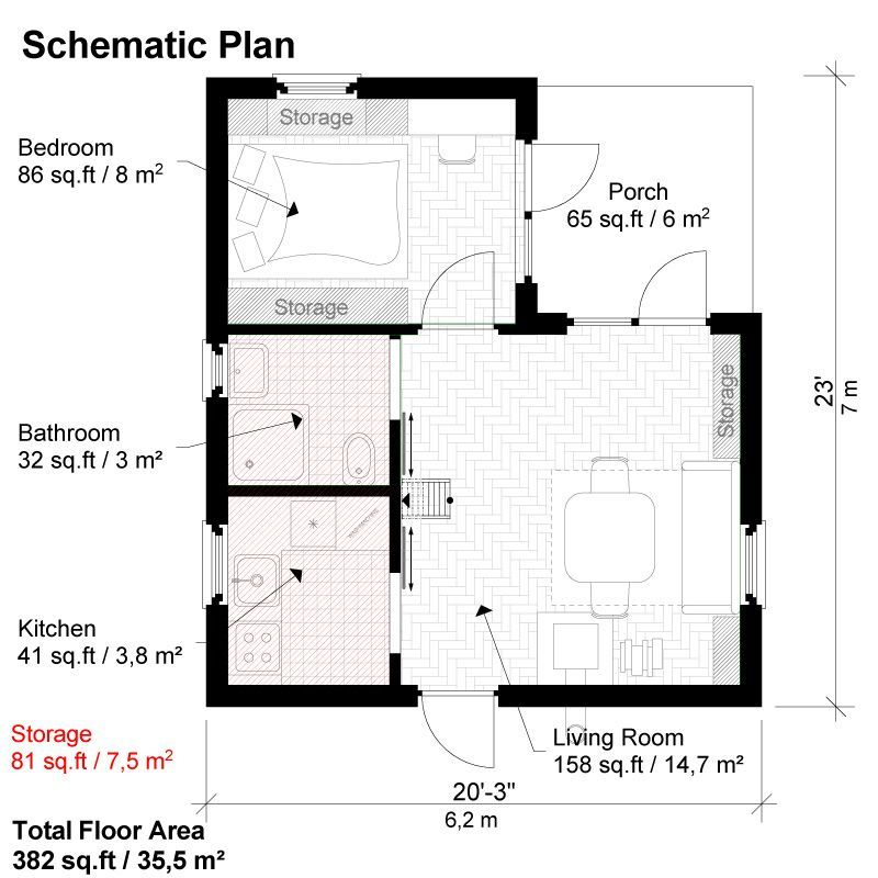 One Bedroom House Plans Peggy One Bedroom House Plans One