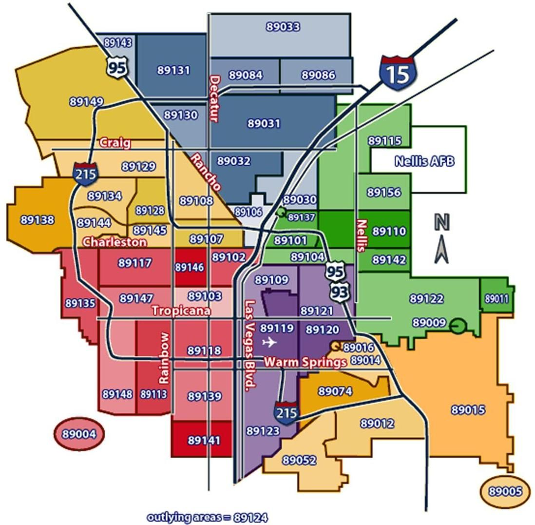 Zip Code Map | Moving | Las Vegas, Vegas, Las vegas city