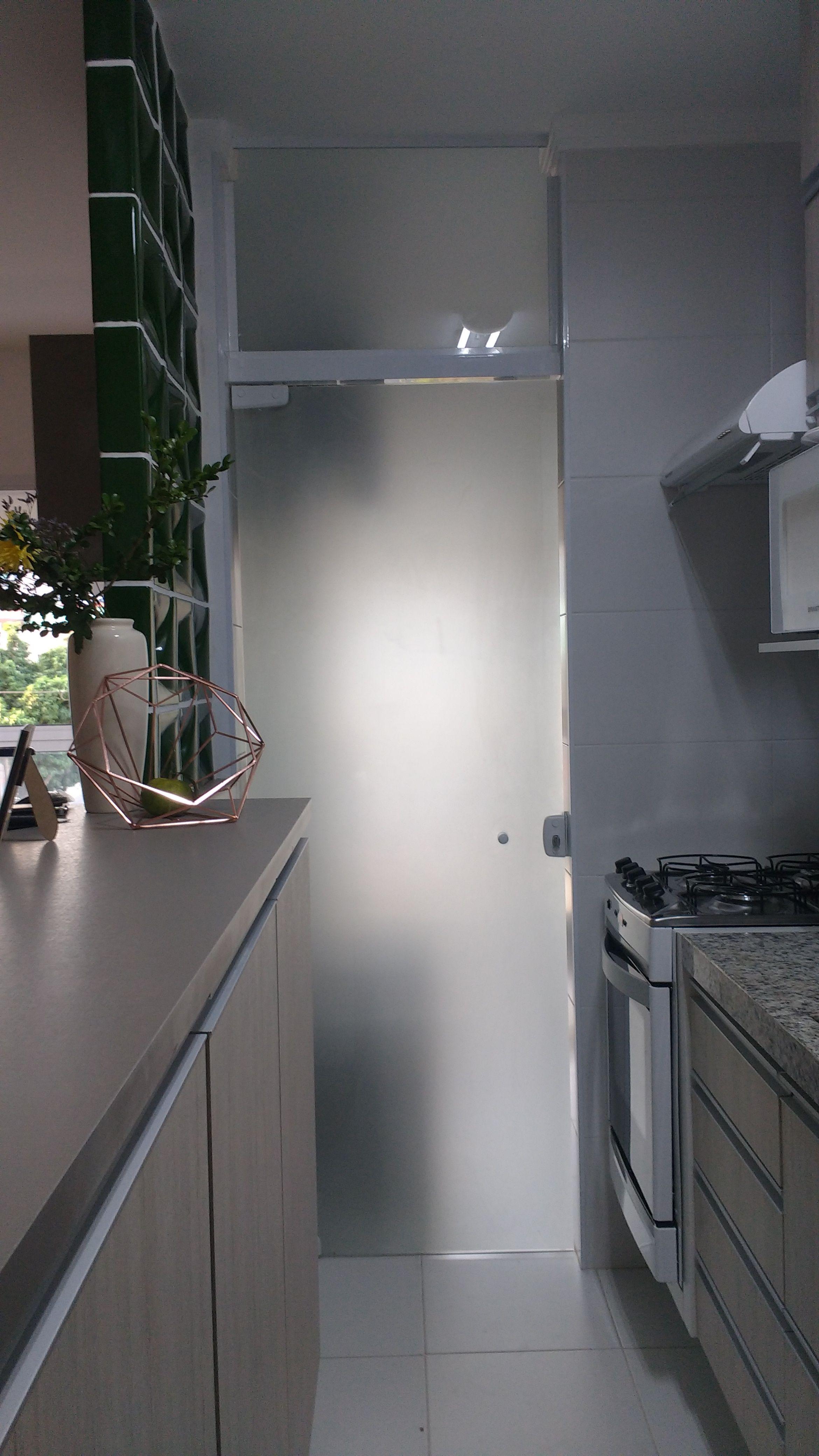 Cozinha Americana Linear Com Divis Ria De Cobog Entre Cozinha Sala
