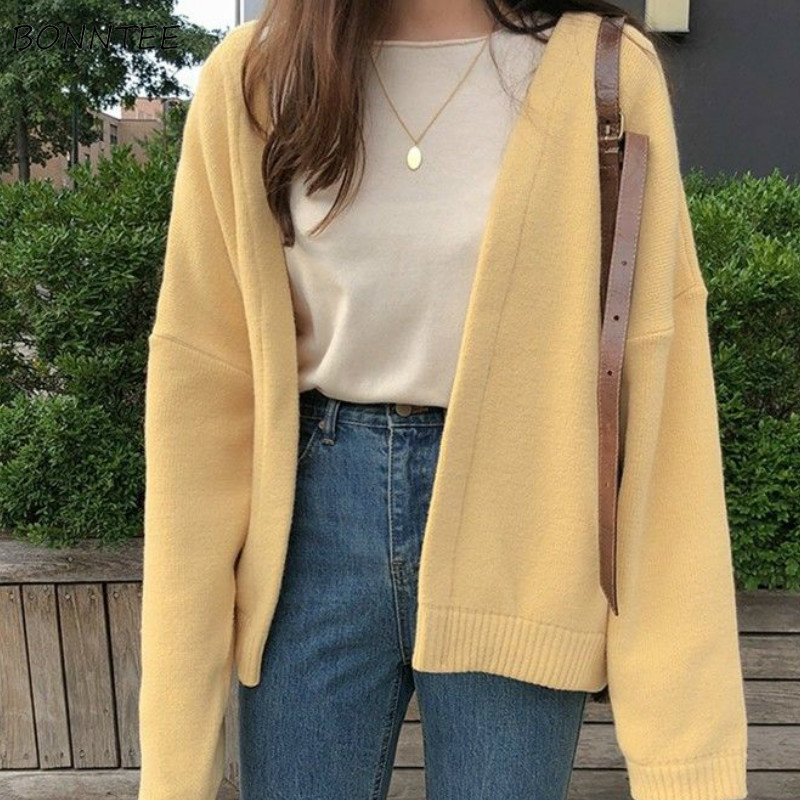 Photo of US $13.78 5% OFF|Cardigan Women Open Stitch Solid V neck Elegant Vintage Korean Style Streetwear Leisure Outwear Spring Sweater Coat Daily Womens| |   – AliExpress