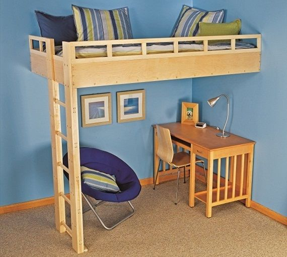 Here S How To Build This Cool Lofted Bed Cool Loft Beds Build