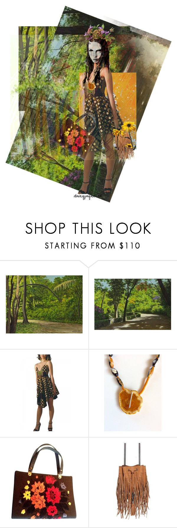 """""""forestry"""" by daizyjayne ❤ liked on Polyvore featuring NOVICA, Tina Lobondi, Yves Saint Laurent and contestentry"""