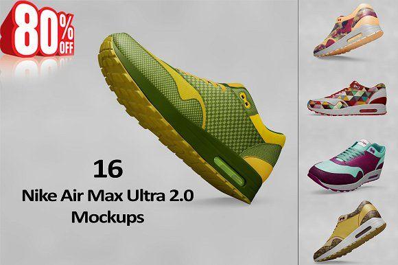 premium selection 13b3d dcf85 Bundle Nike Air Max Ultra 2.0 Mockup  creativework247