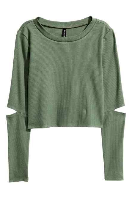 Crop top van tricot